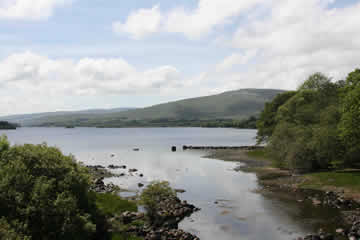 View of Lough Gartan from Gartan Bridge